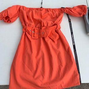 Pretty Little Thing Orange dress
